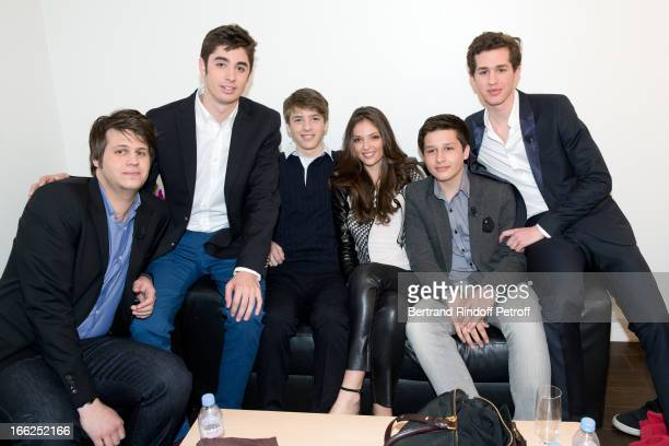 Grandchildren of Jean-Paul Belmondo: Christopher , Nicolas and Annabel Waters with Victor , Alessandro and Giacomo Belmondo attend 'Vivement...