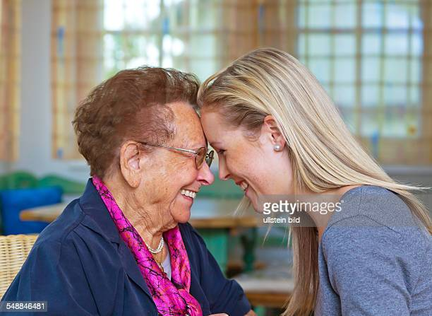 Granddaughter and grandmother -