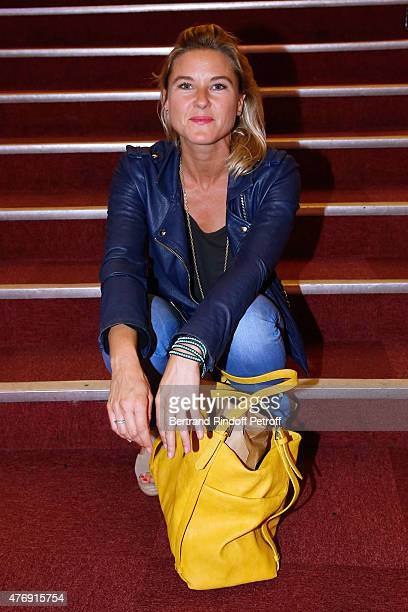 Granddaughter by marriage of Sean Connery Journalist Stephanie Renouvin attends Humorist Berangere Krief Performs at L'Olympia on June 12 2015 in...