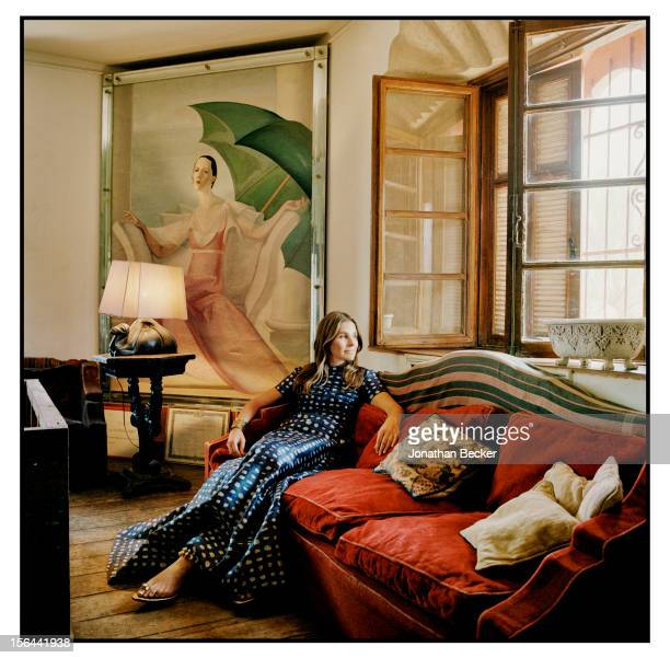 Granddaughter of and former creative director of Estee Lauder Aerin Lauder is photographed for Town Country Magazine on May 31 2012 at Verger de...