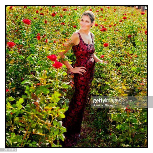 Granddaughter of and former creative director of Estee Lauder Aerin Lauder is photographed for Town Country Magazine on May 31 2012 in the gardens of...