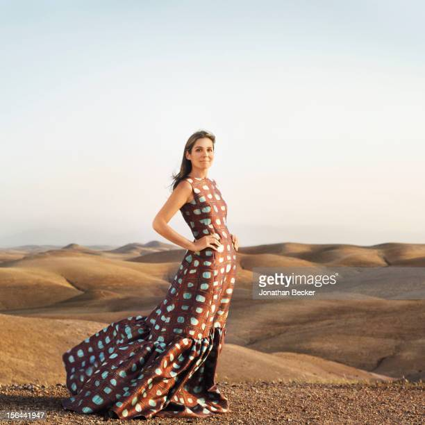 Granddaughter of and former creative director of Estee Lauder Aerin Lauder is photographed for Town Country Magazine on May 31 2012 in Marrakech...