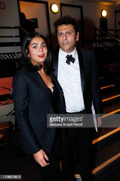 Granddaughter of Enrico Macias, Julia Ghrenassia and her father Jean-Claude Ghrenassia attend Enrico Macias 80th Anniversary at L'Olympia on February...
