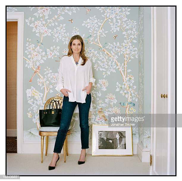 Granddaughter of Estee Lauder and former creative director of Estee Lauder Aerin Lauder poses for Vogue MagazineSpain on March 23 2011 in New York...