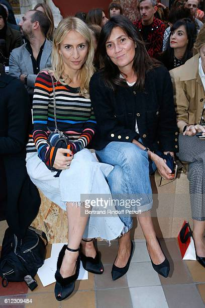 Granddaughter of Sonia Rykiel ; Lola Burstein and journalist Emmanuelle Alt attend the Sonia Rykiel show as part of the Paris Fashion Week Womenswear...