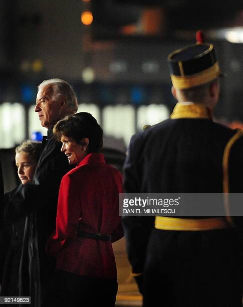 Granddaughter of US Vice President Finnegan James Biden US Vice President Joe Biden and wife of the US Ambassador to Romania Libby Gitenstein arrive...
