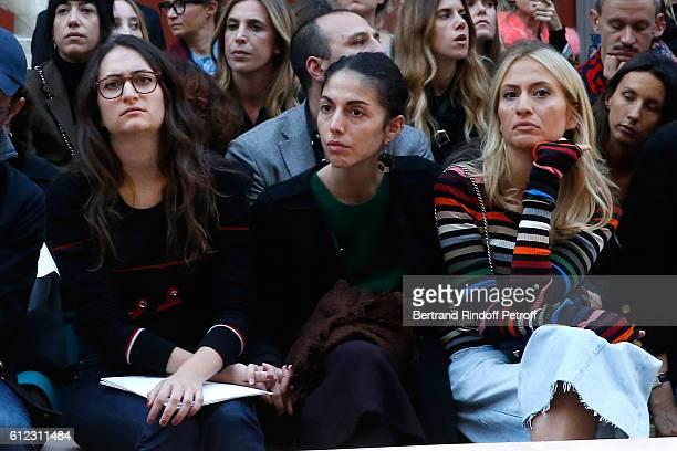 Granddaughters of Sonia Rykiel Salome Burstein Tatiana Burstein and Lola Burstein attend the Sonia Rykiel show as part of the Paris Fashion Week...