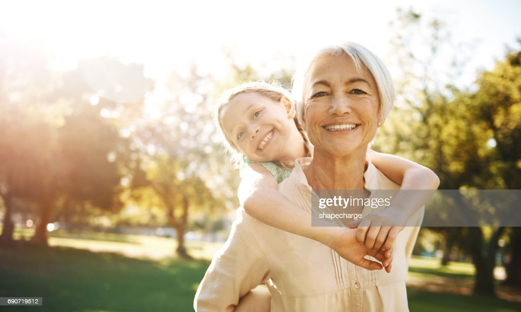 Granddaughters, you gotta love 'em : Stock Photo