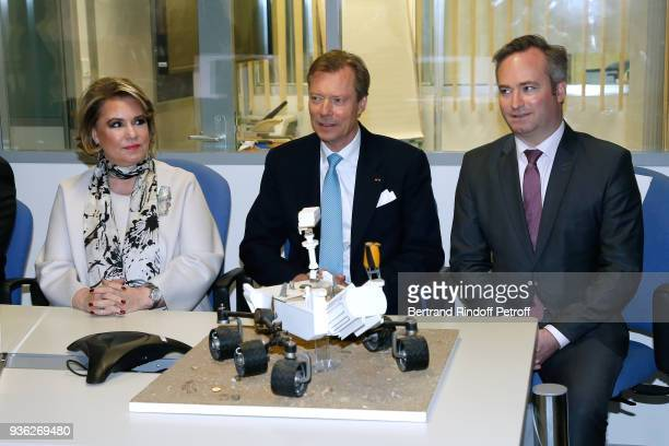 Grand-Duc Henri and Grande-Duchesse Maria Teresa of Luxembourg and French State Secretary to the Minister of Europe and Foreign Affairs,...