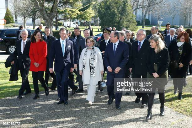 Grand-Duc Henri and Grande-Duchesse Maria Teresa of Luxembourg, Deputy Chief Executive Officer of CNES, Lionel Suchet and Head of the Toulouse Space...