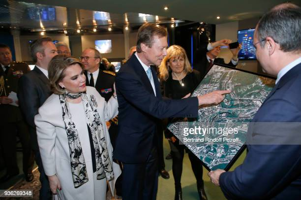Grand-Duc Henri and Grande-Duchesse Maria Teresa of Luxembourg, Head of the Toulouse Space Center, Genevieve Campan and Deputy Chief Executive...