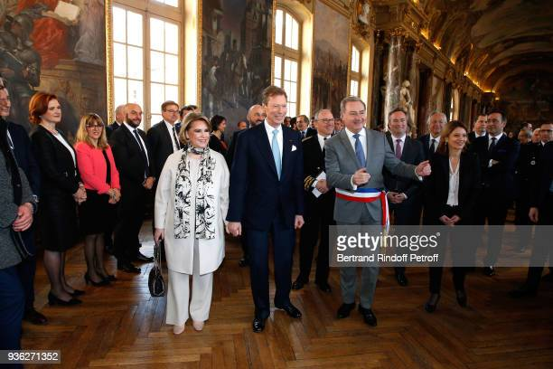 Grand-Duc Henri and Grande-Duchesse Maria Teresa of Luxembourg with Mayor of Toulouse and President of Toulouse metropolis, Jean-Luc Moudenc atttend...