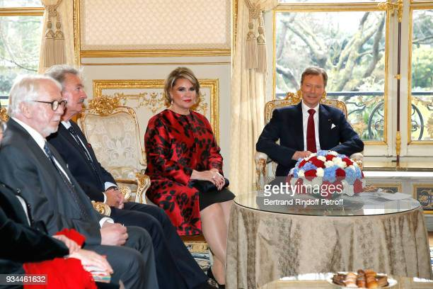 RR GrandDuc Henri GrandeDuchesse Maria Teresa of Luxembourg and Minister of Foreign Affairs of Luxembourg Jean Asselborn attend the State Visit in...