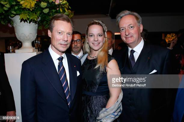 LLAARR GrandDuc Henri of Luxembourg Jacques Emmanuel de Crussol duc d'Uzes and his wife Alessandra Passerin d'Entreves et Courmayeur attend the...