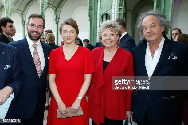 GrandDuc Heritier Guillaume de Luxembourg GrandeDuchesse Heritiere Stephanie De Luxembourg Member of the European Parliament Viviane Reding and...