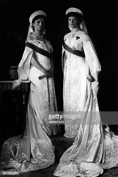 Grandduchess Olga Nikolaevna Romanova and Grandduchess Tatiana Nikolaevna Romanova *10061897 Daughters of Tsar Nicholas II of Russia and his wife...