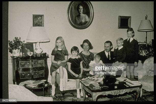 Grand-Duke Jean, his wife who was born Princess of Belgium and their five children in 1963.