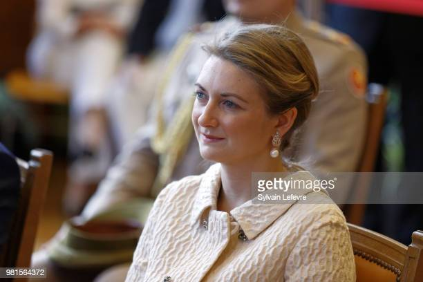 GrandeDuchesse Heritiere Stephanie of Luxembourg visits EschsurAlzette for National Day on June 22 2018 in Luxembourg Luxembourg