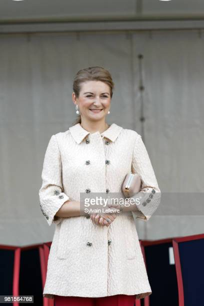 Grande-Duchesse Heritiere Stephanie of Luxembourg visits Esch-sur-Alzette for National Day on June 22, 2018 in Luxembourg, Luxembourg.