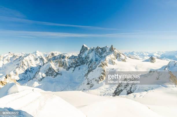 grandes jorasses - monte bianco foto e immagini stock