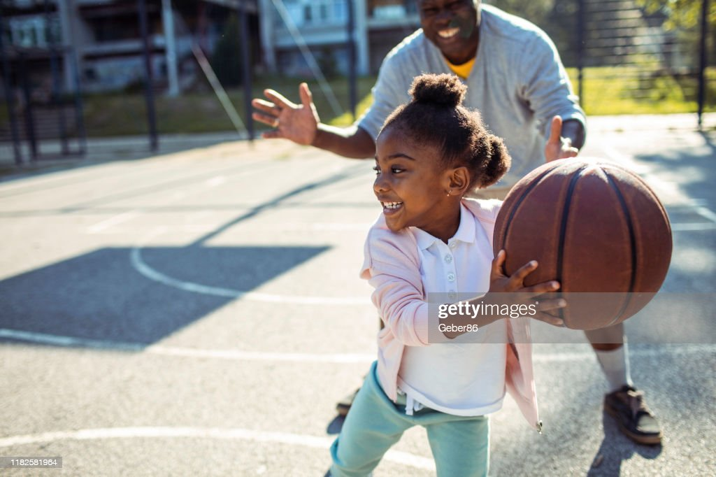 Grandfather and Granddaughter : Stock Photo