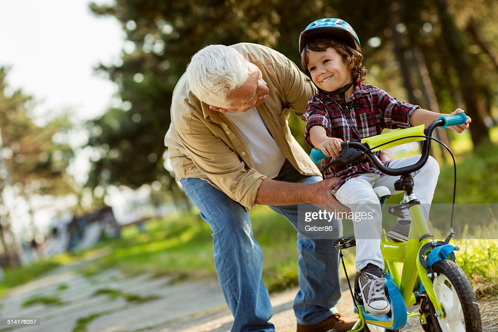 Grandfather and grandson : Stock Photo
