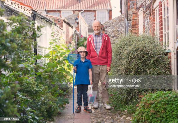 grandfather and grandson - grandfather stock pictures, royalty-free photos & images