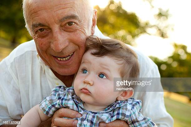 grandfather and nephew close up - nephew stock pictures, royalty-free photos & images