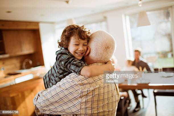grandfather playing with his grandson - grandfather stock pictures, royalty-free photos & images
