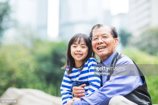 Grandfather with granddaughter