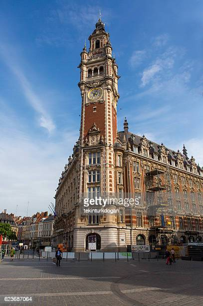 Grandlille tower building at downtown lille france