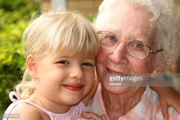 Grandma and young granddaughter