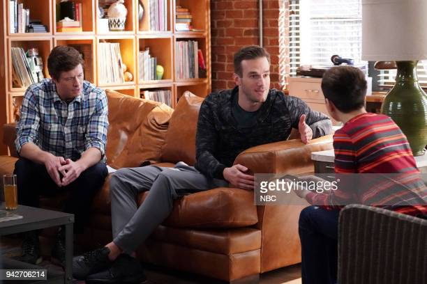 CHAMPIONS 'Grandma Dearest' Episode 106 Pictured Anders Holm as Vince Andy Favreau as Matthew JJ Totah as Michael
