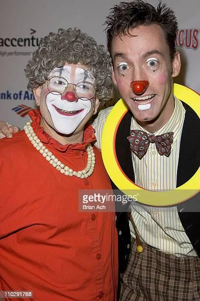 Grandma the Clown and Watson Kawecki during Big Apple Circus Opening Night Gala Benefit at Damrosch Park at Lincoln Center in New York City New York...