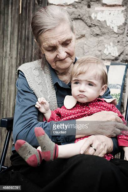 Grandma with handicapped child