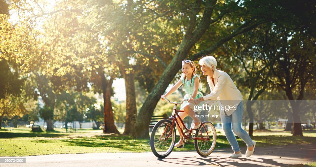 Grandma's are short on criticism & long on love : Stock Photo