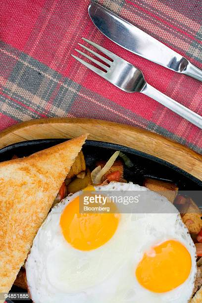 'Grandma's Skillet' is served at Grandma's Kitchen a Western eatery in Beijing China on Friday April 18 2008 The skillet features home fries bacon...