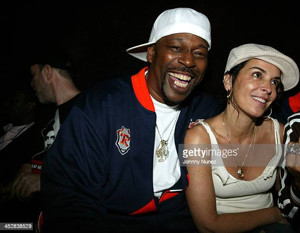 Grandmaster Caz and Annabella Sciorra during 4th Annual Tribeca Film Festival Just For Kicks After Party at Kos in New York City New York United...