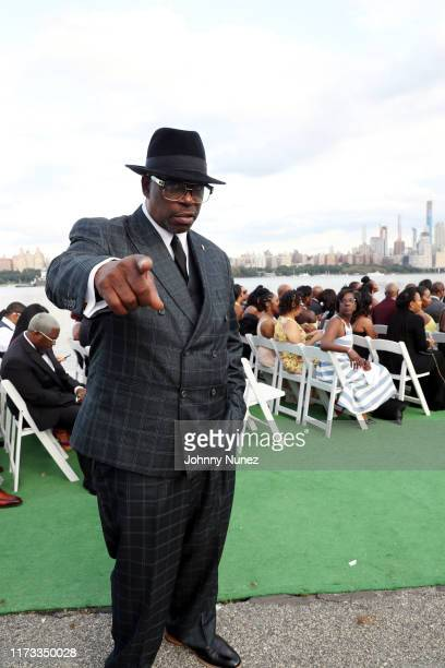 Grandmaster Caz attends the Treach Cicely Evans Wedding at Waterside Reception Hall on September 08 2019 in North Bergen New Jersey