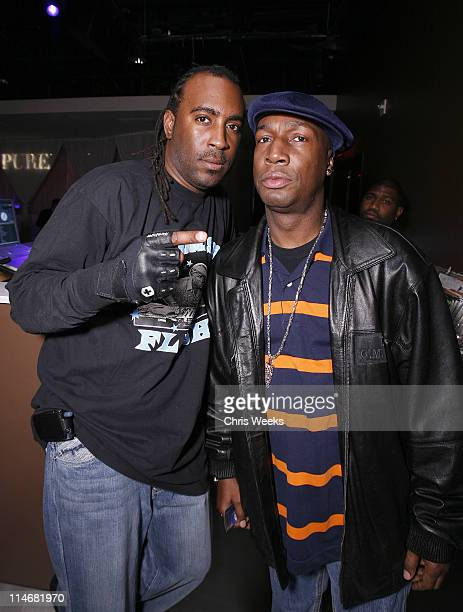 Grandmaster Flash and guest during Jared Leto's Surprise Birthday Party at PURE Nightclub at Pure Nightclub in Las Vegas Nevada United States