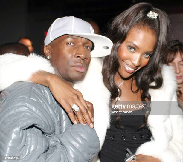 Grandmaster Flash and Naomi Campbell during Alicia Keys Album Release Party at Industria in New York City 2003 at Industria in New York New York...