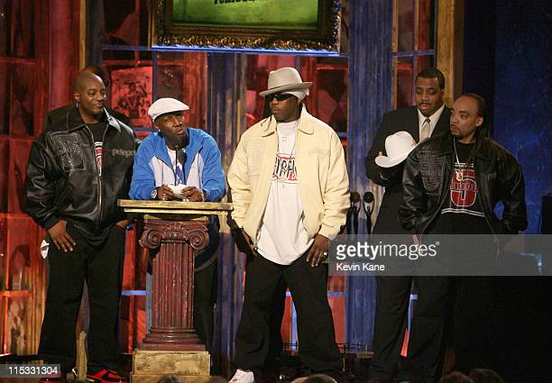 Grandmaster Flash and the Furious Five inductees during 22nd Annual Rock and Roll Hall of Fame Induction Ceremony Show at Waldorf Astoria in New York...