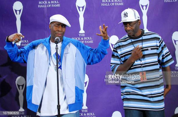 Grandmaster Flash inductee during 22nd Annual Rock and Roll Hall of Fame Induction Ceremony Press Room at Waldorf Astoria in New York City New York...
