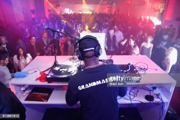 Grandmaster Flash performs during YouTube brings the BOOM BAP BACK to New York City with Lyor Cohen Nas Grandmaster Flash QTip Chuck D and Fab 5...