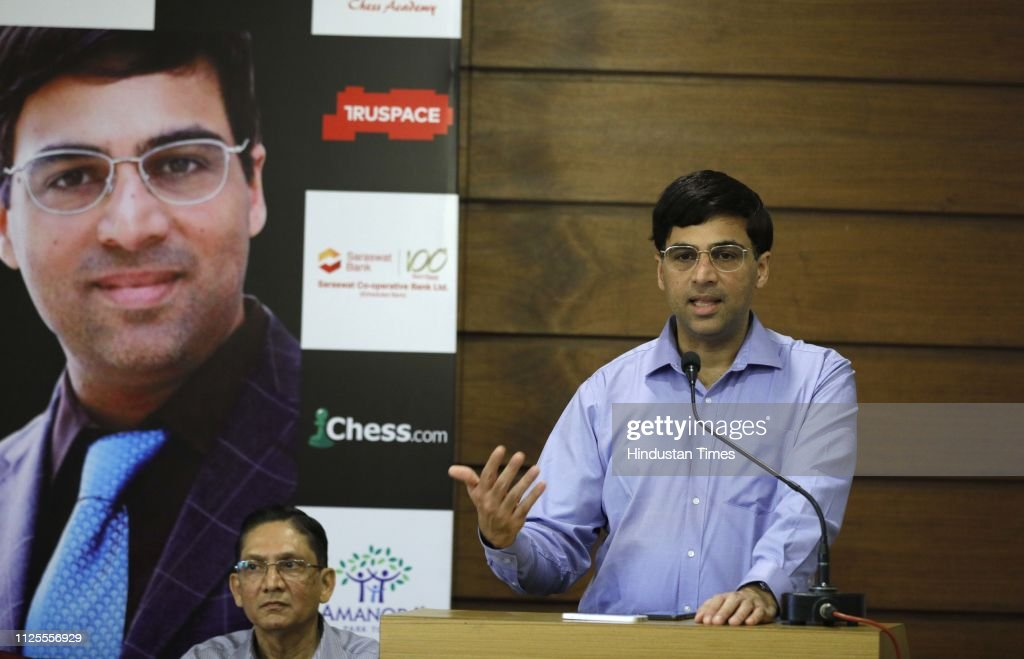 IND: Vishwanathan Anand At Champ Coach In Pune