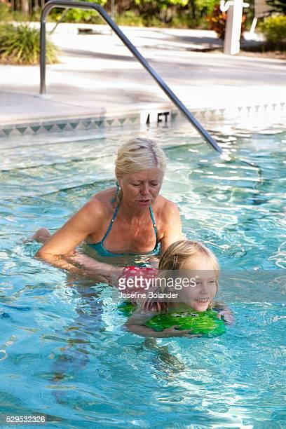 Swimsuit granny Mature Swimsuit