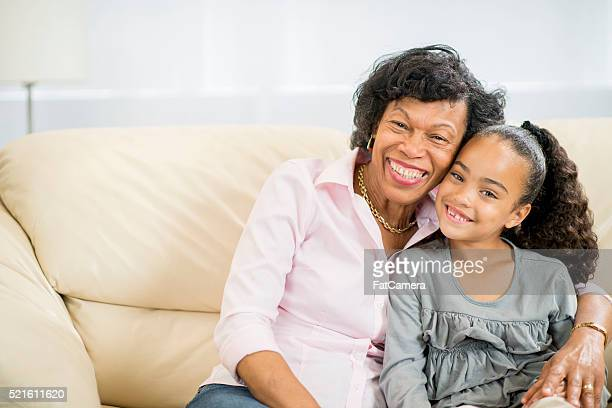 Grandmother and Granddaughter Spending Time Together