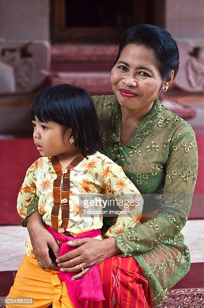 A Grandmother And Granddaughter Ubud Bali Indonesia