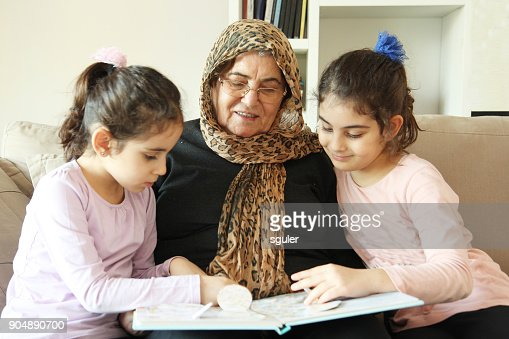 Grandmother and granddaughters