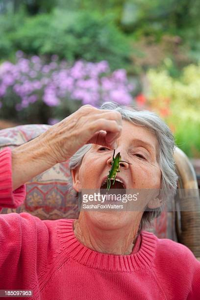 grandmother and insect